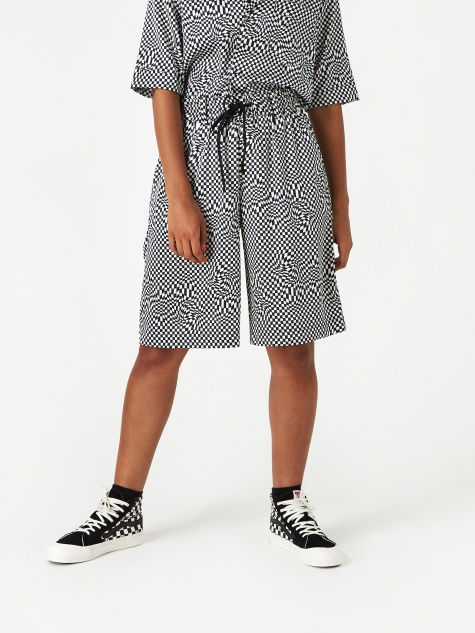 Board Shorts - Black/White