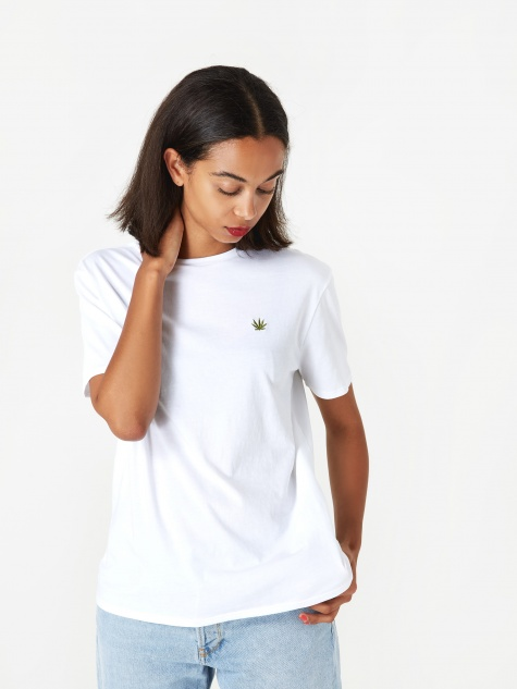 Leaf Boy T-Shirt - White/Black