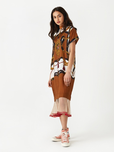 PULLA Inner Dress - Brown