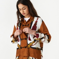 TOGA PULLA Inner Shirt - Brown