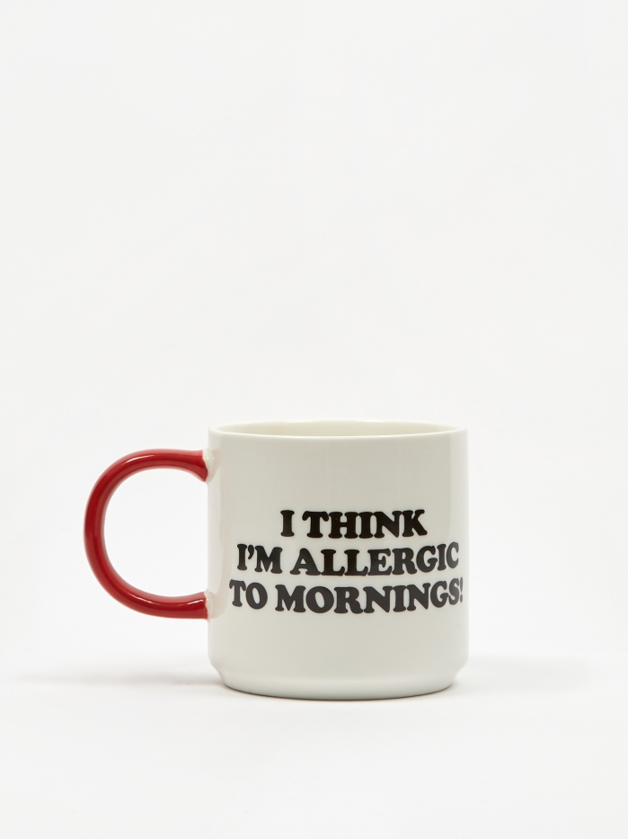 Peanuts Mug - Allergic To Mornings (Image 1)