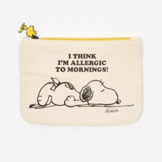 Peanuts Zipper Pouch - Allergic to Mornings