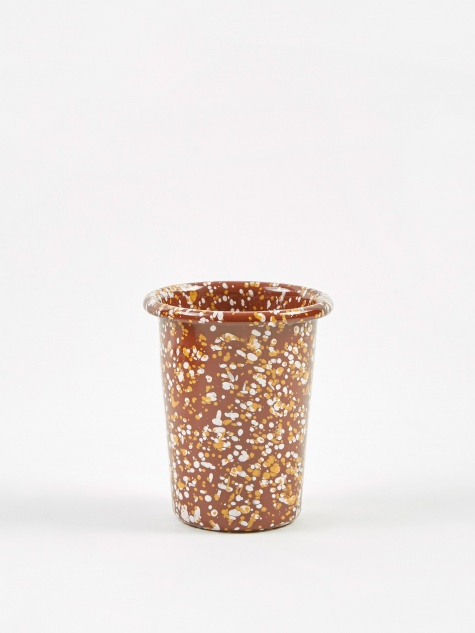 Enamel Sprinkle Cup  - Brown