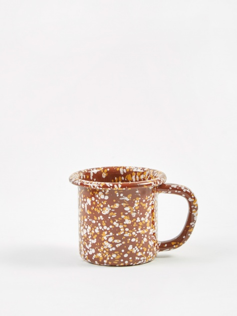 Enamel Sprinkle Mug - Brown