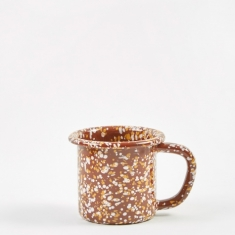 HAY Enamel Sprinkle Mug - Brown