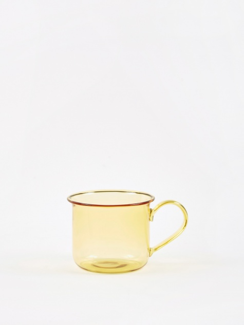 Borosilicate Glass Cup - Yellow