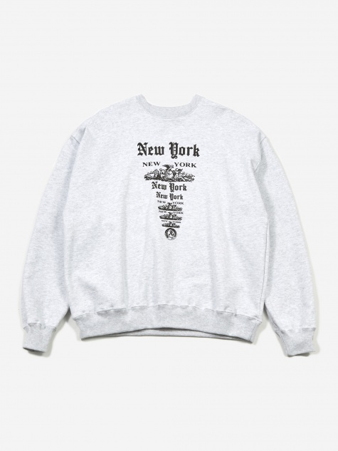 NY NY Crewneck - Heathered Grey