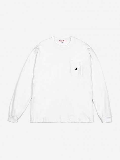 Pocket Glyph Longsleeve T-Shirt - White