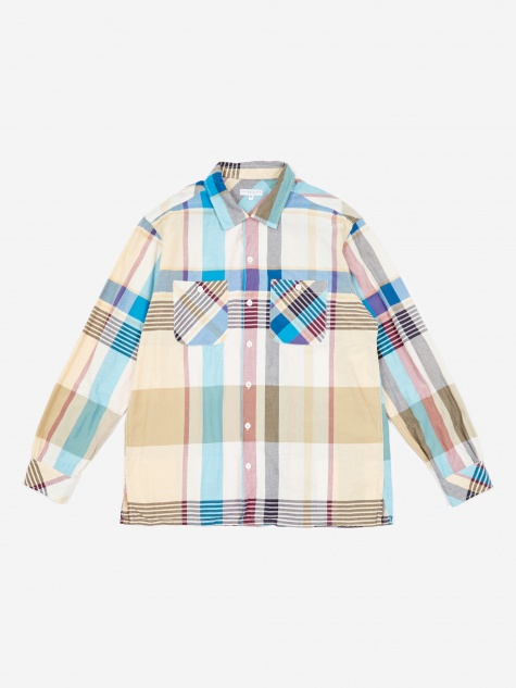 Classic Shirt - Khaki Big Madras Plaid