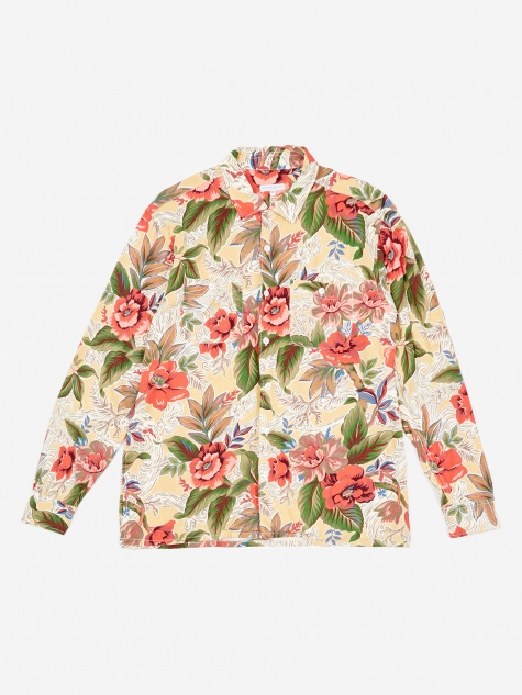 Classic Shirt - Yellow Hawaiian Rayon Floral