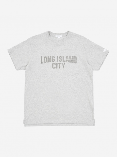 Printed T-Shirt - Grey/Long Island City