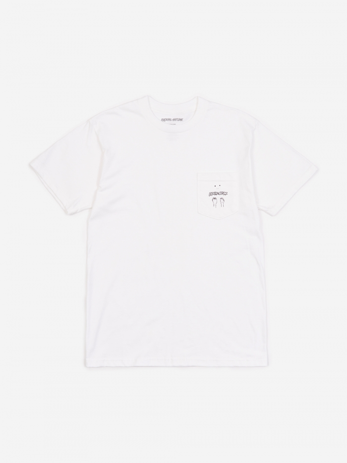 Fucking Awesome Fists Pocket T-Shirt - White (Image 1)