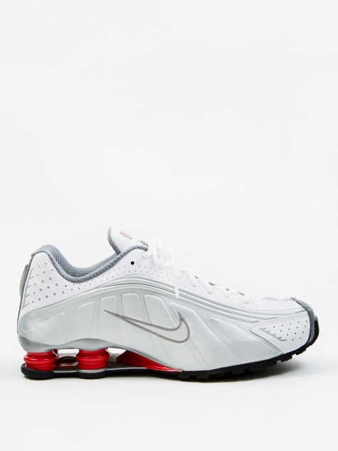 Shox R4 - White/Metallic Silver-Comet Red-Black