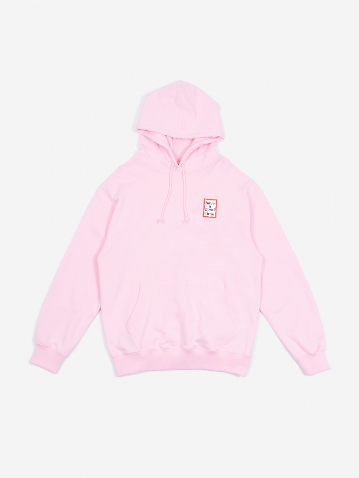 Have A Good Time Mini Frame Hooded Sweatshirt - Pink (Image 1)
