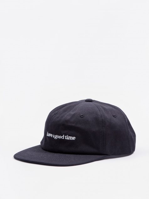 6 Panel Side Logo Cap - Black