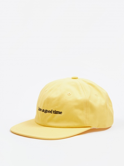 6 Panel Side Logo Cap - Yellow