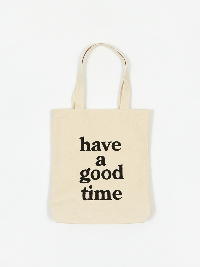 Have A Good Time Logo Tote Bag - Natural (Image 1)