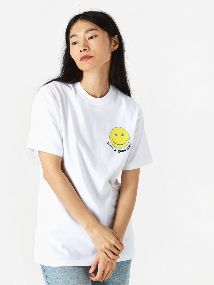 Have A Good Time Smile T-Shirt - White (Image 1)