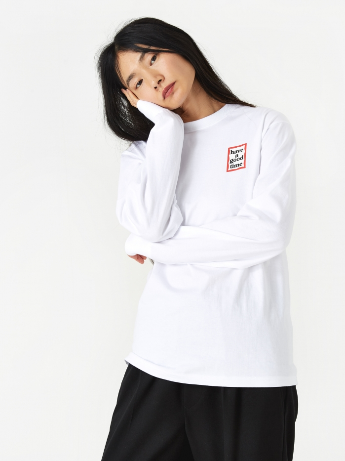 Have A Good Time Mini Frame Longsleeve T-Shirt - White (Image 1)