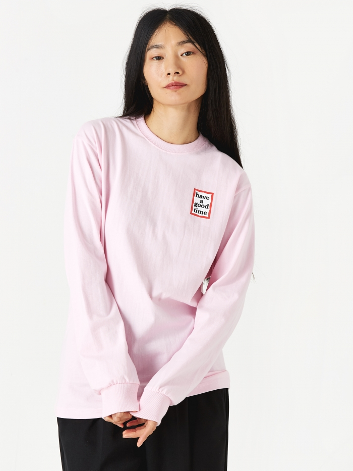 Have A Good Time Mini Frame Longsleeve T-Shirt - Pink (Image 1)