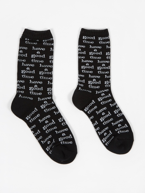 Logo All Over Socks - Black