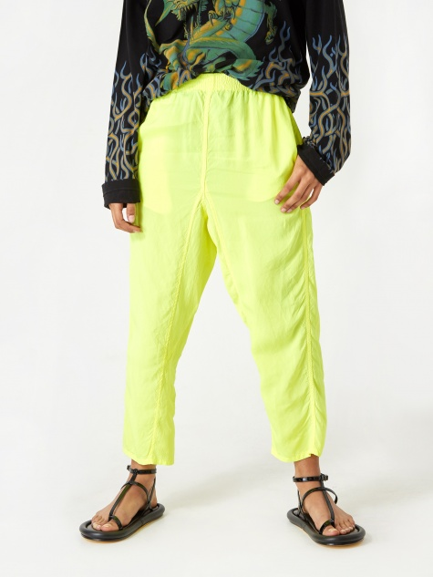 Lightweight Cropped Trouser - Lemon