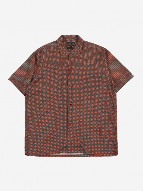 Short Sleeve Open Collar B.D. Geometric Print Shirt