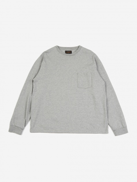 40/2 Pocket T-Shirt - Heather Grey