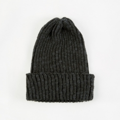 Beams Plus Watch Cap Linen Beanie Hat - Black