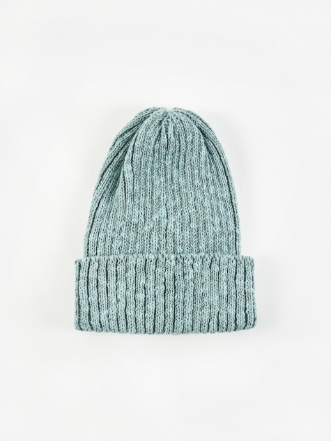Watch Cap Linen Beanie Hat - Green