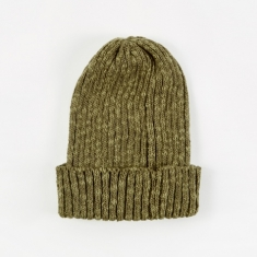 Beams Plus Watch Cap Linen Beanie Hat - Olive