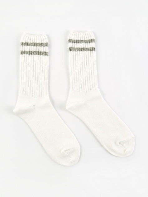 School Boy Socks - White/Grey