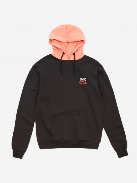Two Tone Hooded Sweatshirt - Anthracite/Desert F