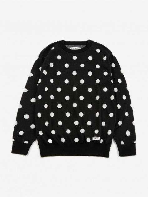 Dots Jacquard Sweater  - Black