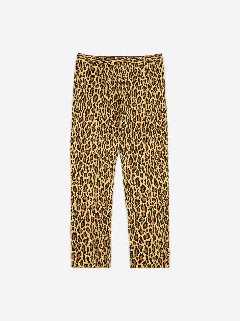 Leopard Pleated Trouser (Type-2) - Beige