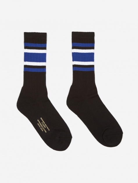 Skater Socks (Type-1) - Black/Blue