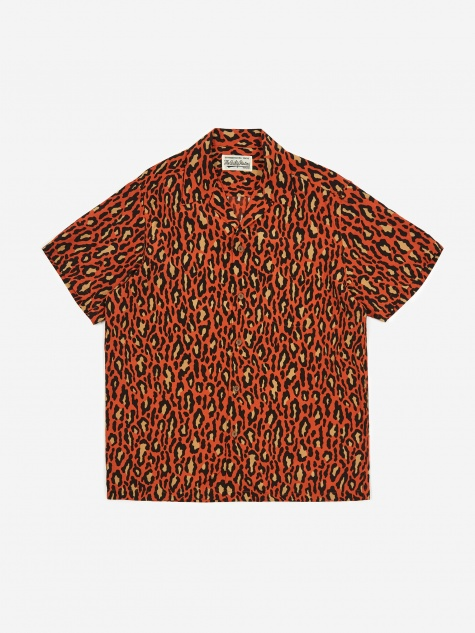 Short Sleeve Hawaiian Shirt (Type-6) - Orange