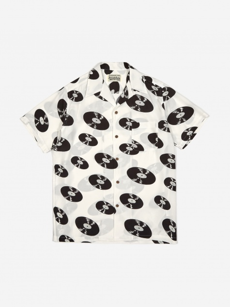 Short Sleeve Hawaiian Shirt (Type-5) - White