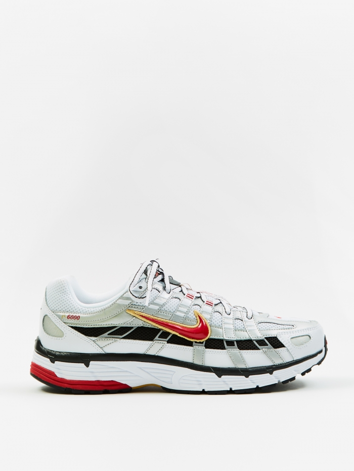 Nike P-6000 - White/Silver/Red (Image 1)