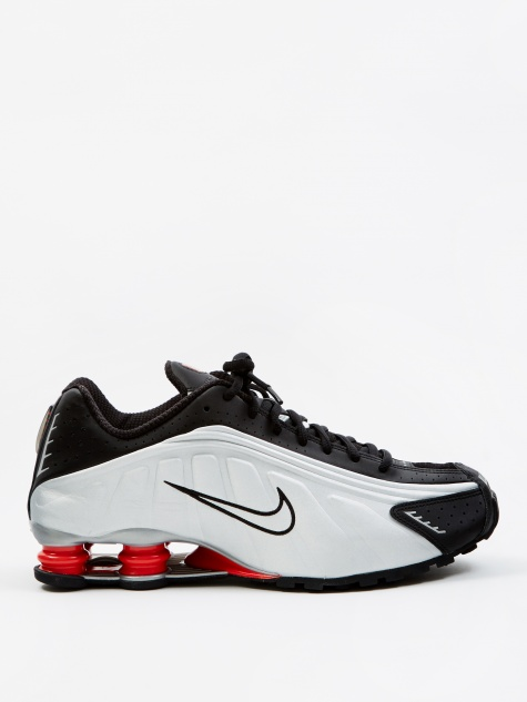 Shox R4 - Black/Metallic Silver-Max Orange