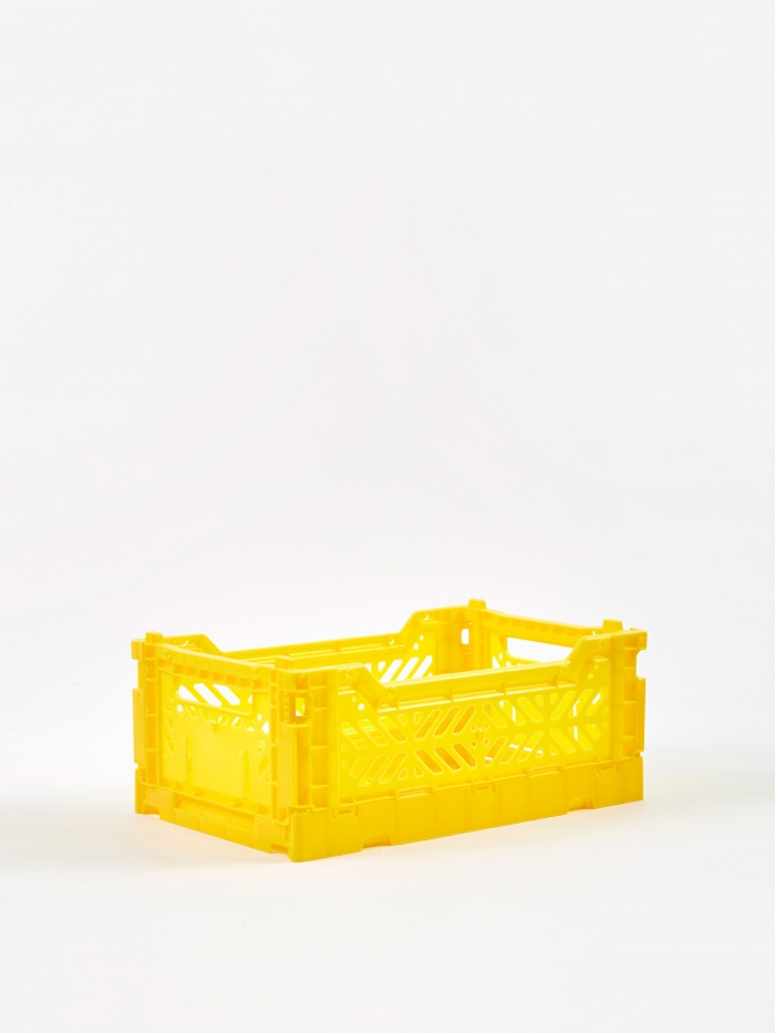 HAY Colour Crate Small - Yellow (Image 1)