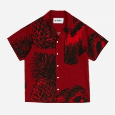 NOMA t.d. Fresh Short Sleeve Shirt - Burgundy