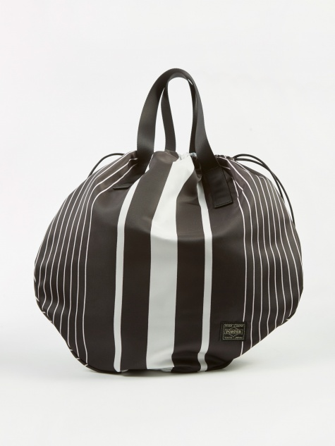 x Porter Stripe Helmet Bag - Black/White