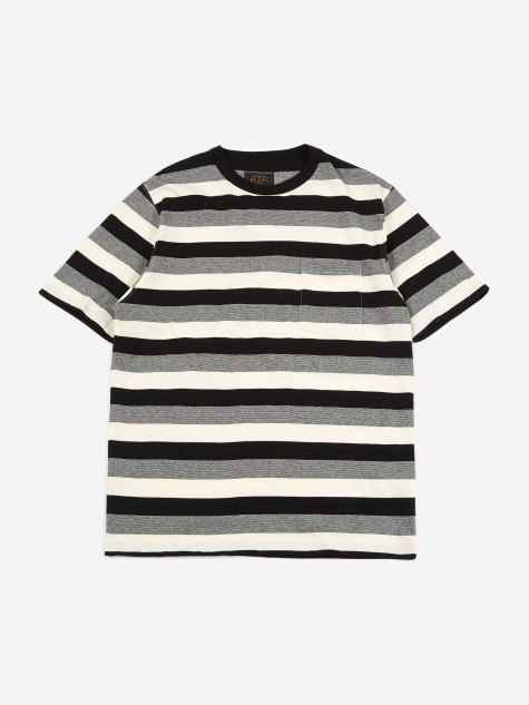 Graduation Border Pocket T-Shirt - Black/White