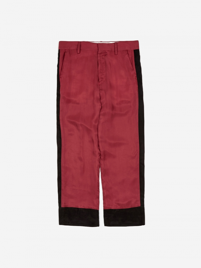 Black Weirdos Bowling Pants - Red (Image 1)