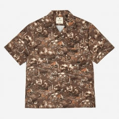 Snow Peak Printed Quick Dry Aloha Shirt - Camping Outdoors