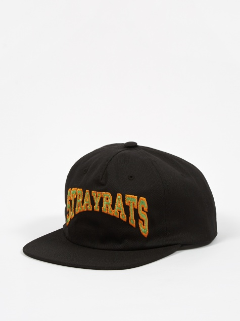 Two-Tone College Arch Hat - Black