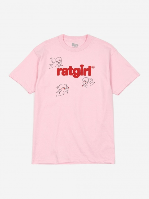 Rat Girl Cupid T-Shirt - Pink