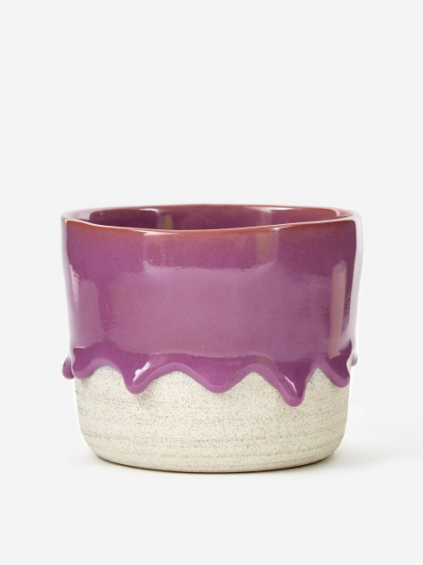 Plum / Ash Lg Soft Bottom Planter