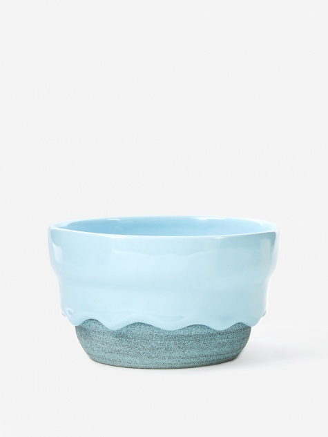 Powder / Denim Ripple Bowl